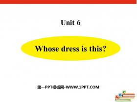 《Whose dress is this?》PPT�n件