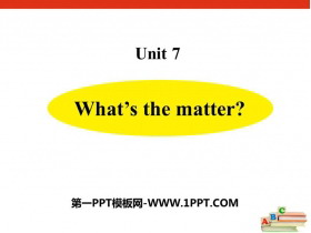 《What's the matter?》PPT下�d