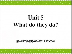 《What do they do?》PPT�n件