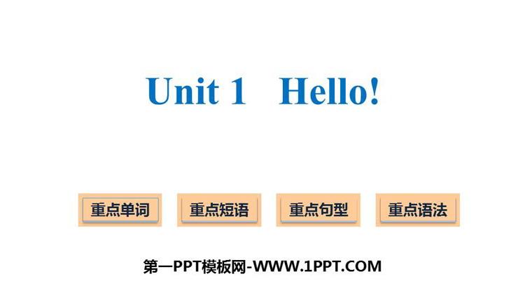 《Hello!》PPT精品�n件