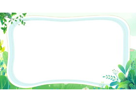 清新�G色植物�~子PPT�框背景�D片