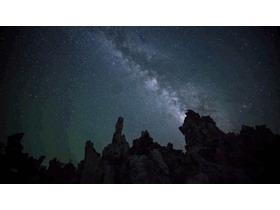 两张大气星空PPT背景图片