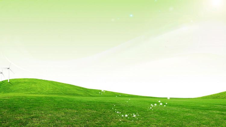 草地绿叶PPT背景图片