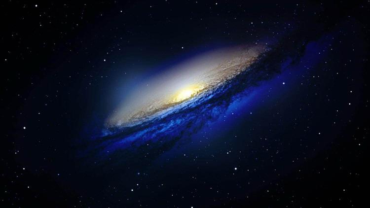 六��星空星球宇宙PPT背景�D片