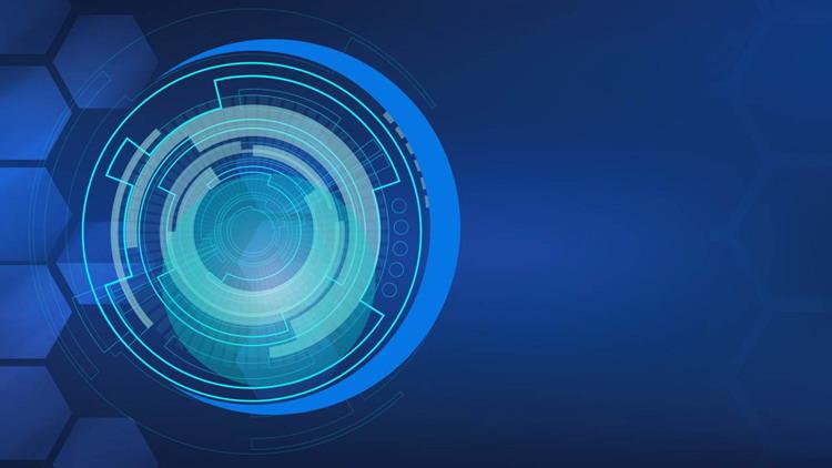 一组蓝色抽象科技感PPT背景图片