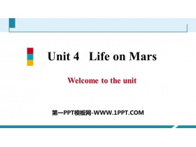 《Life on Mars》Welcome to the unit PPT习题课件