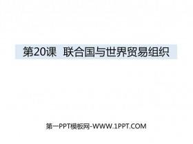 《联合国与世界贸易组织》PPT教学课件