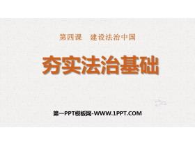 《夯实法治基础》PPT优质课件