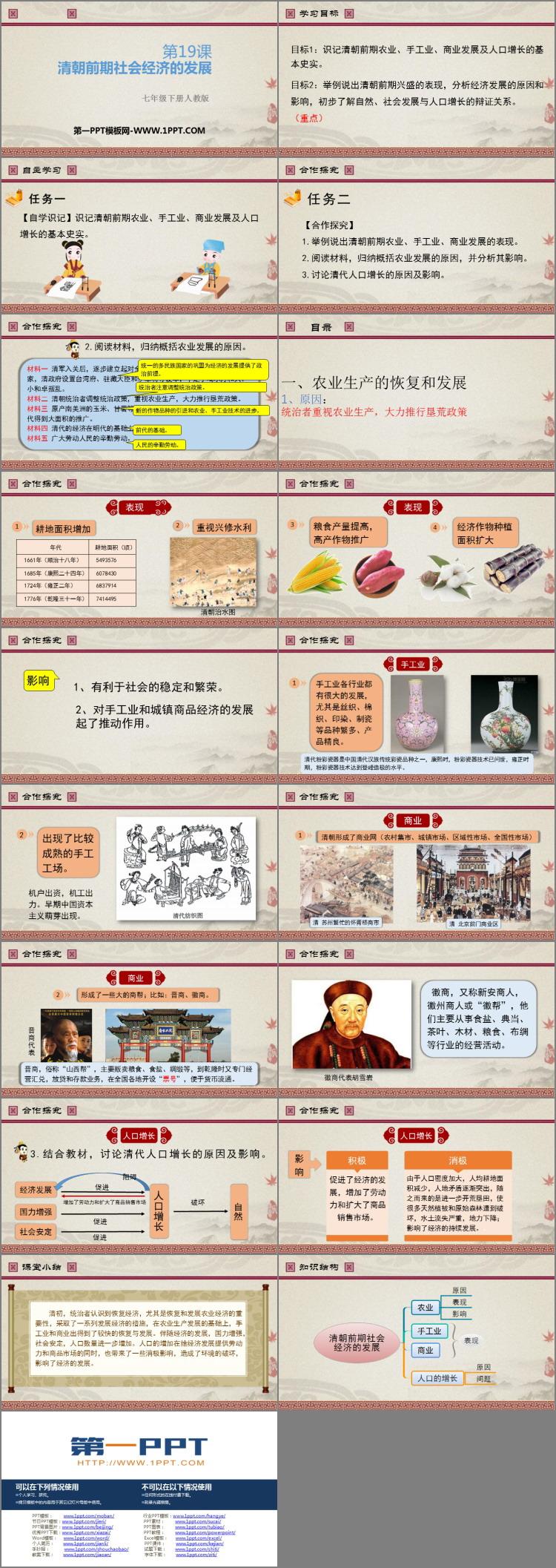 《清朝前期社会经济的发展》PPT课件下载