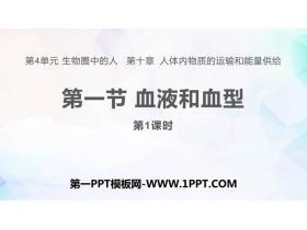 《血液和血型》PPT教�W�n件(第1�n�r)