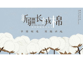 新疆长绒棉介绍PPT模板