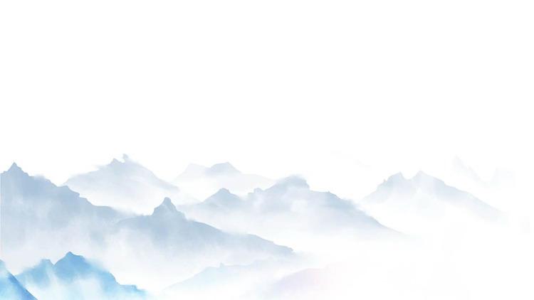 四张精美水墨群山远山PPT背景图片