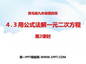 《用公式法解一元二次方程》PPT课件下载(第2课时)