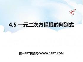 《一元二次方程根的判别式》PPT课件下载