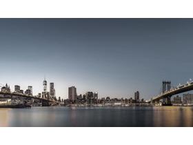 三张高清精美城市夜景PPT背景图片